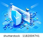 modern technologies  security... | Shutterstock .eps vector #1182004741