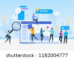 job search. recruitment. head... | Shutterstock .eps vector #1182004777