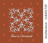 merry christmas card with...   Shutterstock .eps vector #118201729