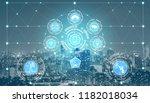 smart city wireless... | Shutterstock . vector #1182018034