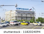 moscow  russia   august 27 ...   Shutterstock . vector #1182024094