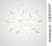 golden tiny confetti and... | Shutterstock .eps vector #1182026347