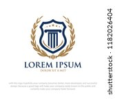 law academy logo designs | Shutterstock .eps vector #1182026404