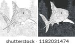 coloring page. coloring book....   Shutterstock .eps vector #1182031474