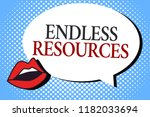 writing note showing endless... | Shutterstock . vector #1182033694