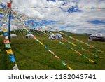 grasslands of northern sichuan... | Shutterstock . vector #1182043741