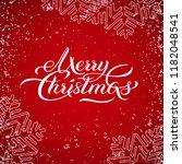 merry christmas banner  red... | Shutterstock .eps vector #1182048541