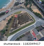 aerial view of the stone walls... | Shutterstock . vector #1182049417