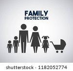 family protection parents kids... | Shutterstock .eps vector #1182052774