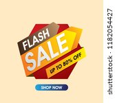 flash sale banner. sale and... | Shutterstock .eps vector #1182054427