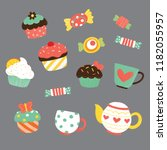 vector illustration of various... | Shutterstock .eps vector #1182055957