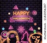 happy halloween celebration   Shutterstock .eps vector #1182056287