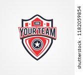 patriotic badge logo template | Shutterstock .eps vector #1182059854