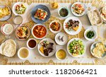 delicious food for a ramadan... | Shutterstock . vector #1182066421
