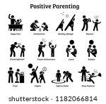 positive parenting child... | Shutterstock .eps vector #1182066814