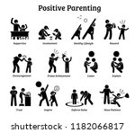 positive parenting child... | Shutterstock . vector #1182066817