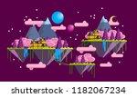 illustration vector   floating... | Shutterstock .eps vector #1182067234