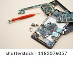 disassembly smartphone and... | Shutterstock . vector #1182076057