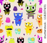 seamless pattern of funny... | Shutterstock .eps vector #118207651