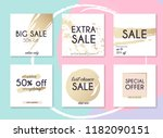 sale website banners web... | Shutterstock .eps vector #1182090151