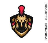 spartan knight sport logo   Shutterstock .eps vector #1182097081