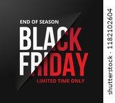 black friday sale banner.... | Shutterstock .eps vector #1182102604