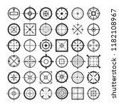 crosshairs. target crosshair... | Shutterstock .eps vector #1182108967