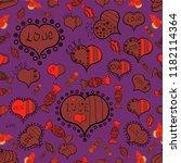 seamless hand drawn doodles.... | Shutterstock .eps vector #1182114364