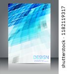 blue geometric shapes and white ... | Shutterstock .eps vector #1182119317
