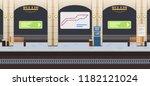 interior of underground metro... | Shutterstock .eps vector #1182121024