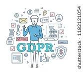 general data protection... | Shutterstock .eps vector #1182121054
