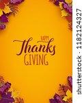 thanksgiving holiday poster... | Shutterstock .eps vector #1182124327