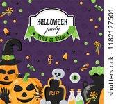 vector background for halloween ... | Shutterstock .eps vector #1182127501