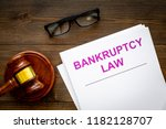 words bankruptcy law written on ... | Shutterstock . vector #1182128707