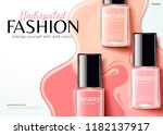fashion nail lacquer ads with... | Shutterstock .eps vector #1182137917