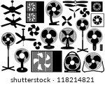 different ventilator set | Shutterstock .eps vector #118214821