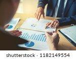 business team colleagues...   Shutterstock . vector #1182149554