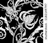 floral seamless pattern.... | Shutterstock .eps vector #1182149797