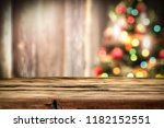 wooden destroyed table by the... | Shutterstock . vector #1182152551
