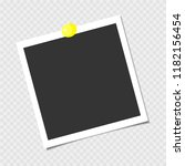 photo frame with yellow pin.... | Shutterstock .eps vector #1182156454