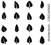 leaf icon set | Shutterstock .eps vector #1182160681
