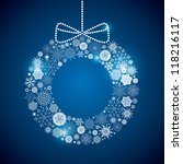wreath consisting of a... | Shutterstock .eps vector #118216117