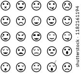 emotion icon set | Shutterstock .eps vector #1182161194