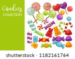 candies and caramel sweets... | Shutterstock .eps vector #1182161764