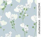 abstract flower seamless... | Shutterstock .eps vector #1182162544