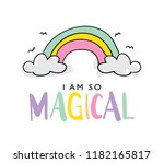 i am so magical text and... | Shutterstock .eps vector #1182165817