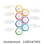 infographic template with 7... | Shutterstock .eps vector #1182167401