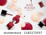fashion nail lacquer ads with... | Shutterstock .eps vector #1182173557
