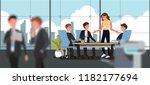business people having board... | Shutterstock .eps vector #1182177694