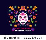 dia de los muertos  day of the... | Shutterstock .eps vector #1182178894